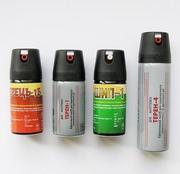 Газовые баллончики Терн-1,  Терн-4,  Шип-1,  Перец-1. Гражданская защита.